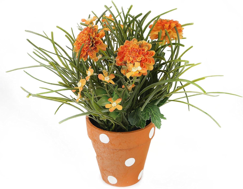 Closer2Nature Artificial Soldering 27cm discount Deep Chrysanthemum Di Orange Plant