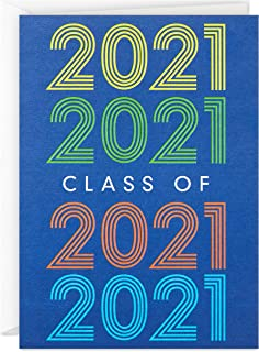 دعوات حفل التخرج هولمارك 2021، 20 دعوة مع مغلفات (أزرق داكن)