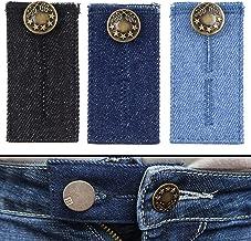 Baoblaze Jeans Hosenerweiterung Hosenbunderweiterung Flach Taille Extender mit Haken f/ür Hosen Hellblau Jeanshosen
