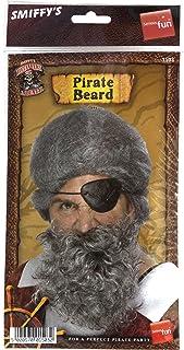 Smiffy's Pirate Beard Nylon Deluxe - Light Grey