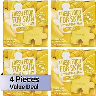 FARMSKIN Freshfood Nourishing Missing Puzzle Soap, Mango, 30 gm