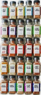 FreshJax Gourmet Organic Seasonings and Spices, Premium Collection, Variety Spice Jar Gift Set (25 Organic Spice Blend Set)