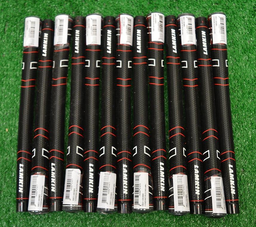 エール一節アーティファクトGrips 13 Lamkin Comfort Plus スタンダードゴルフ ブラック/レッド/ホワイト - 60ラウンド - 53グラム - 19605