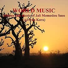World Music. African folk music of Jali Momodou Suso. African Kora.