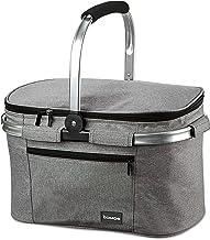 bomoe Kylväska isolerad korg hopfällbar isbrytare K37 – utomhus kylväska – 37,5 x 25 x 23,5 cm – 22 liter – picknickkorg f...