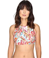 LAUREN Ralph Lauren - Sunrise Hi-Neck Bra Top