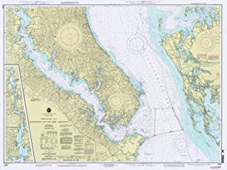 Map - Chesapeake Bay - Patuxent River And Vicinity, 1993 Nautical NOAA Chart - Maryland (MD) - Vintage Wall Art - 44in x 33in