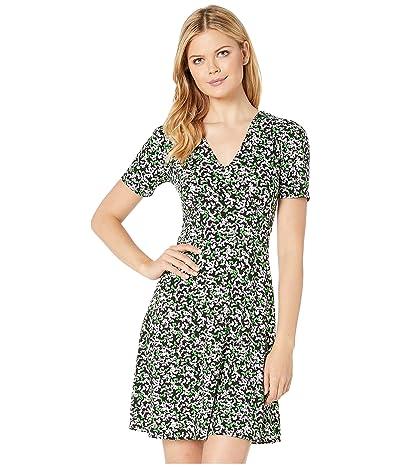 MICHAEL Michael Kors Flutter Multi Dress (Black/Clover) Women