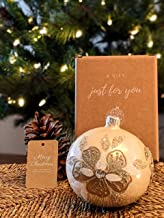Christmas Glass Ball Decorations Polish Handmade Ornament 3.94 inch Elegant Xmas Ornaments Stylish Decor Balls for Holiday...