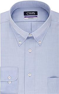CHAPS Mens Dress Shirts Regular Fit Stretch Buttondown Collar Solid