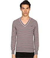 Vivienne Westwood - Stripe Classic V-Neck Sweater