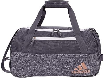 adidas Squad Duffel Bag (Grey/Jersey Onix/Onix/Rose Gold) Handbags