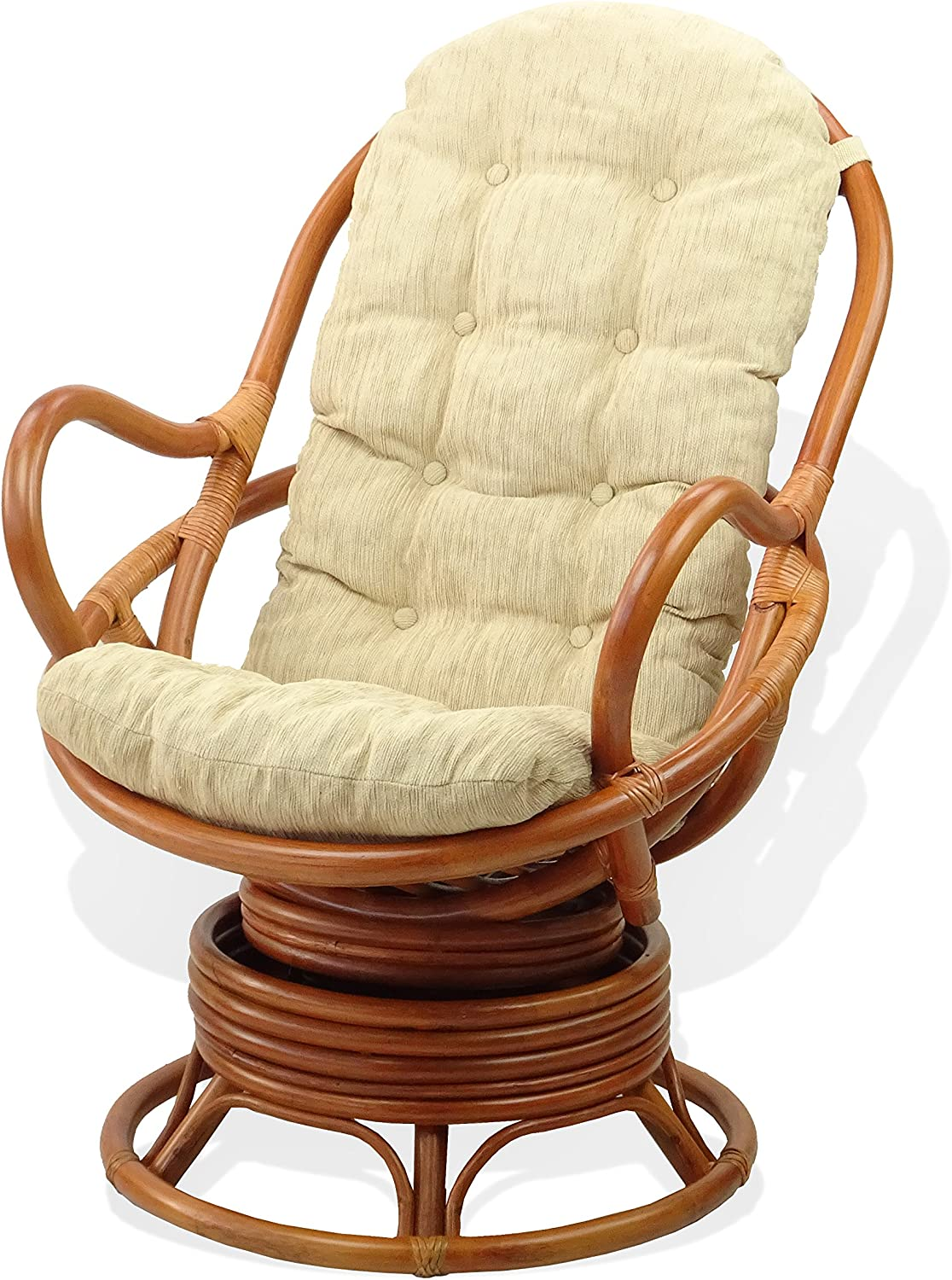 excellence Lounge Swivel Rocking Java Chair Natural Wicker Rattan Max 69% OFF Handmade