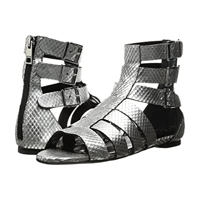 Just Cavalli Python Leather Sandal (Silver) Women