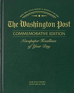 Personalized Birthday Newspaper Book (Washington Post - Green Standard Edition)