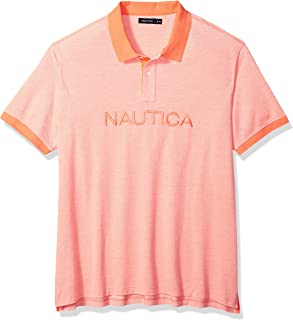 Nautica Men's Big and Tall Short Sleeve Solid Logo Polo Shirt
