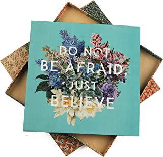Believe Inspirational Wall Art (11x11 inches) - Unique Decor for Home, Office
