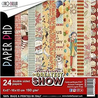 CIAO BELLA PAPER SHOW 6X6 24/PK, El mejor espectáculo, 12 diseños/2 cada uno, talla única