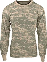 Military Camouflage Long Sleeve T-Shirt Camo Army Tee with ArmyUniverse Pin