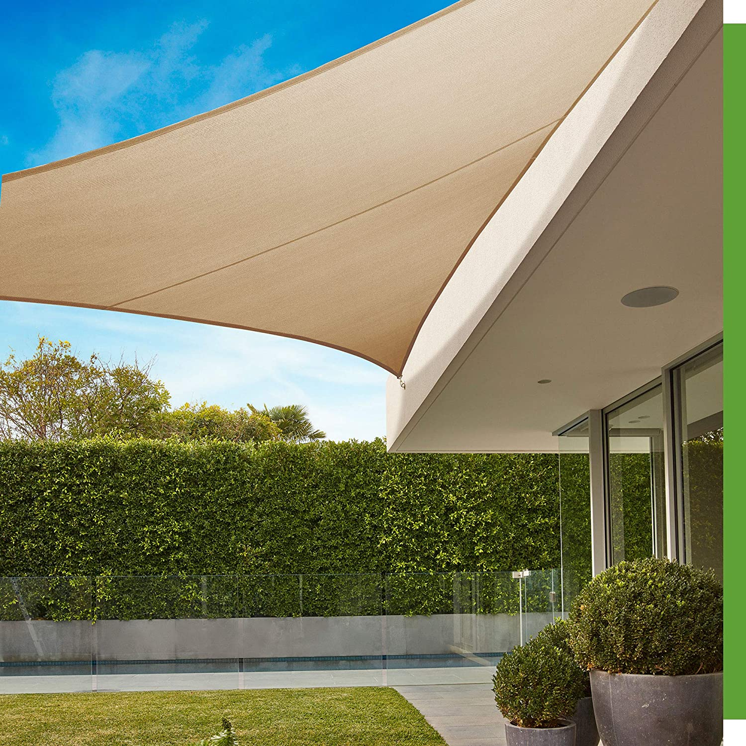 Coolaroo 458157 Shade Sails Triangle Max 63% OFF Beech At the price 16'5