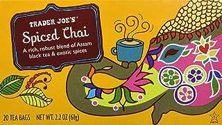 Trader Joe's Spiced Chai (A Rich, Robust Blend of Assam Black Tea & Exotic Spices), 20 Tea Bags (1 Box)