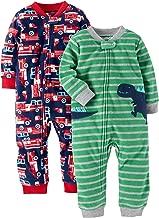 Carter's Baby and Toddler Boys' 2-Pack Fleece Footless Pajamas