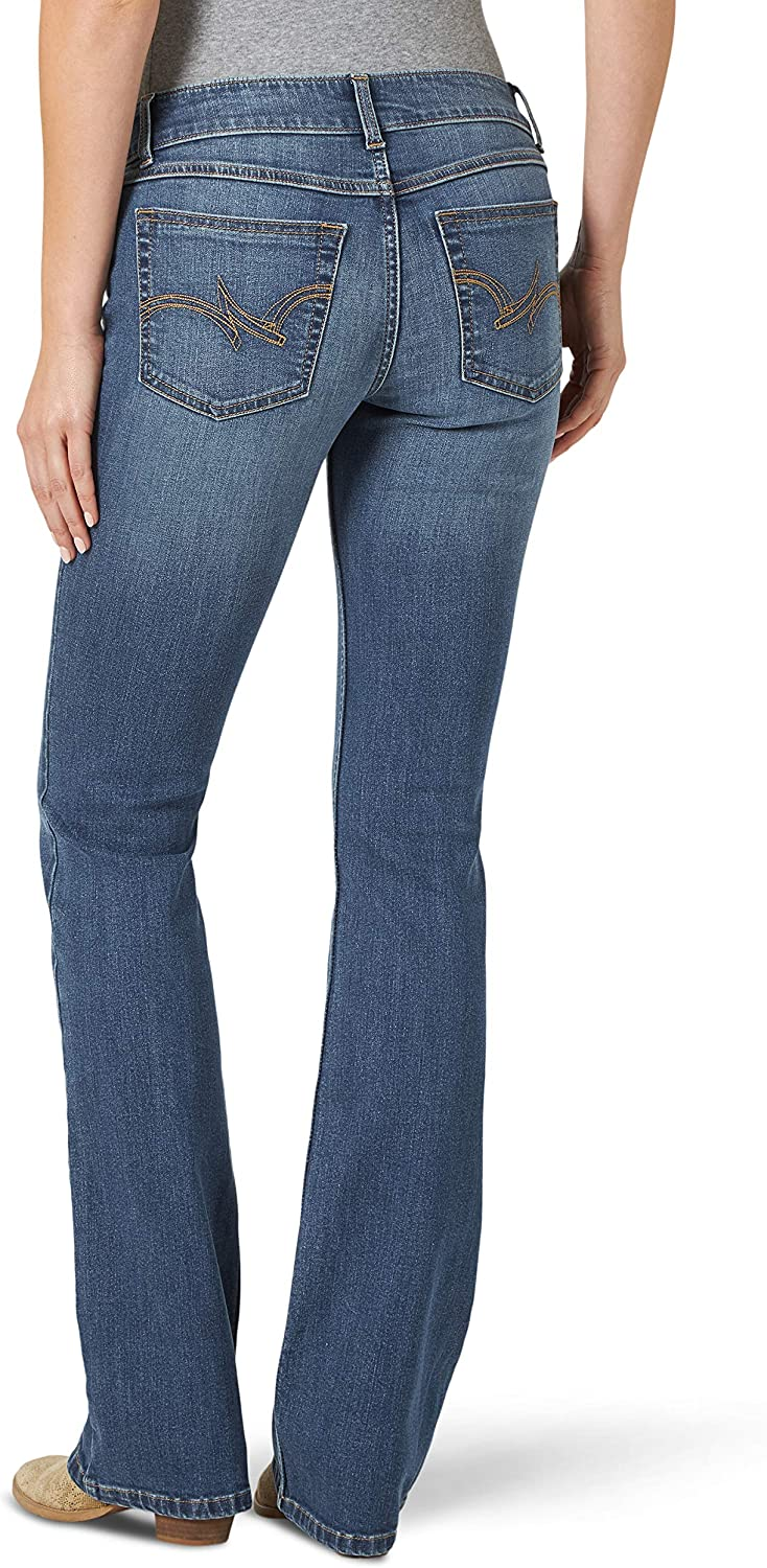 Wrangler Mid Rise Stretch Boot Cut Jean Femme Kinsley