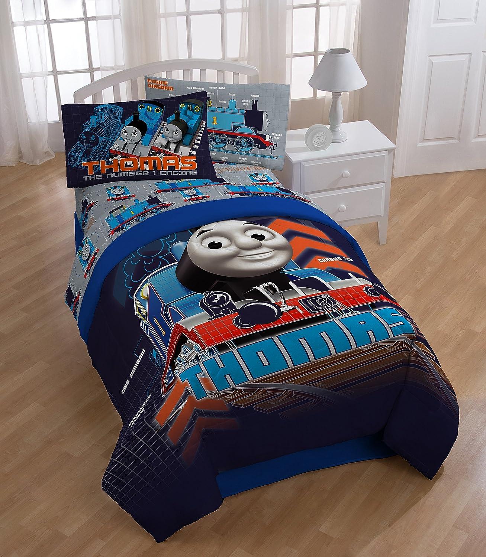HIT Thomas The Tank Engine Tech Twin Full Reversible Comforter Comforter measures 86  x 71