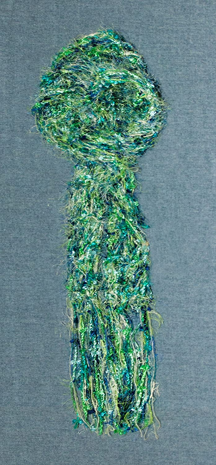 Women's Scarf Super popular 100% quality warranty! specialty store Hand Knit Green Lacy Blue and