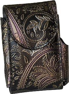 Portasigarette, porta pacchetto sigarette con porta accendino, Vera Pelle - Etabeta Artigiano Toscano - Made in Italy (flo...