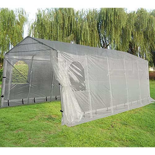 Quictent Snow Shed Suitable for Bad Weather, 20X11 Heavy Duty Carport Garage