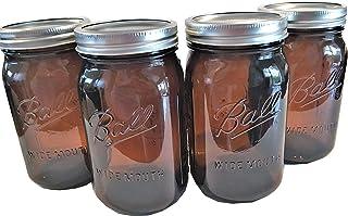 Ball Mason Jars-32 oz Amber-Set of 4-NEW COLOR !!!