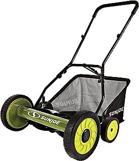 Snow Joe FBA_MJ502M 20-Inch Manual Reel Mower w/Grass Catcher, Green