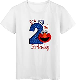 Embroidered ELMO Its My Third Birthday Turning 3 Toddler T-Shirt Unisex