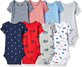 Carter's Baby Boys' 8-Pack Short-Sleeve Bodysuits