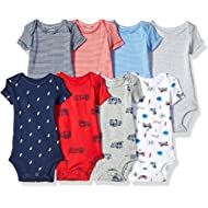 Baby Boys' 8-Pack Short-Sleeve Bodysuits