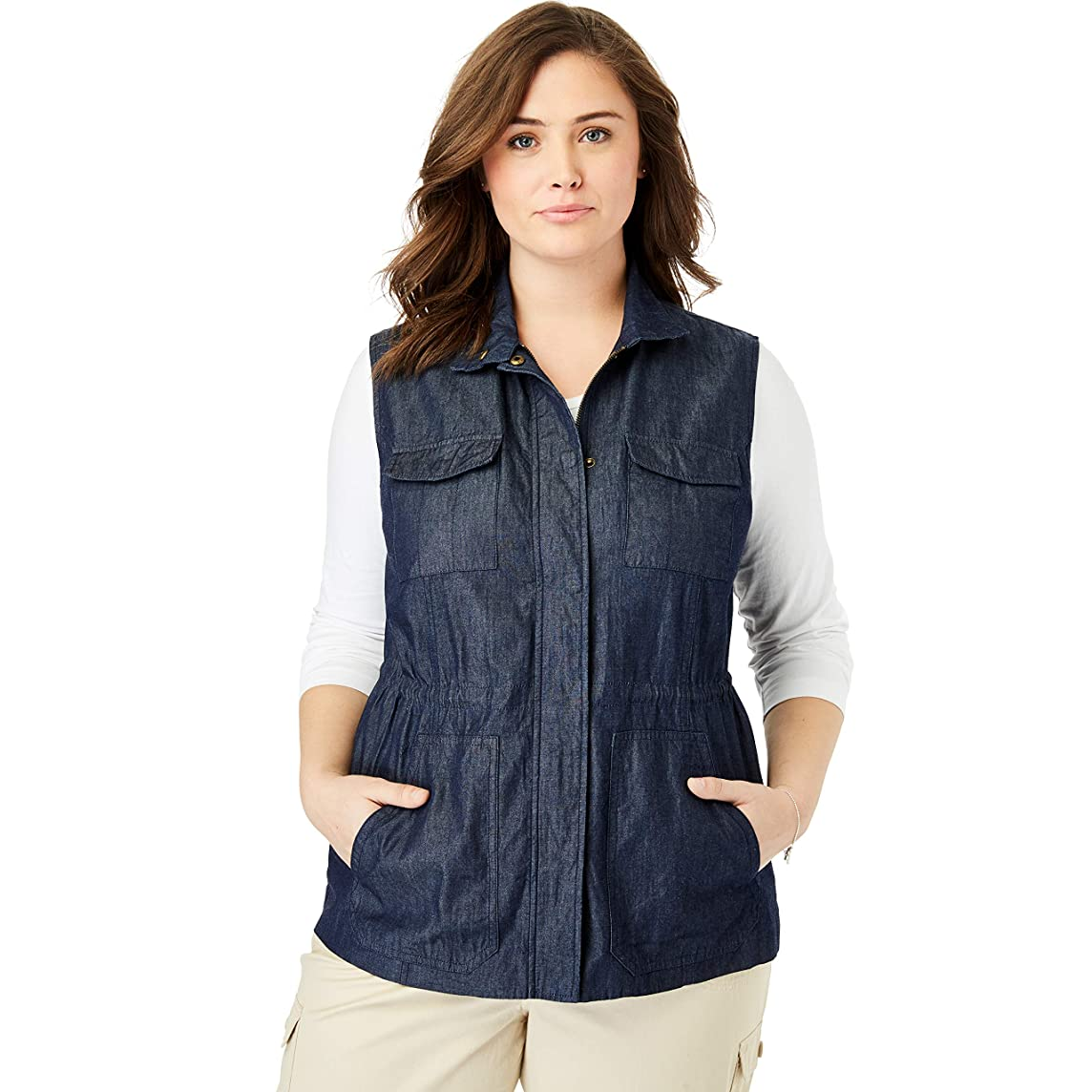 Woman Within Women's Plus Size Utility Vest