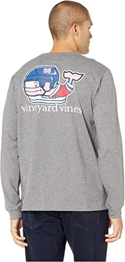Long Sleeve Pro Hockey Whale Pocket Tee