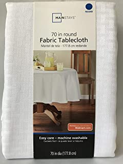 Mainstays Hyde Fabric Tablecloth, White