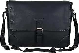 """Ben Sherman Karino Leather 15"""" Laptop & Tablet Crossbody Travel Messenger Bag (RFID) Laptop"""