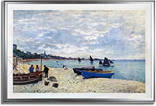 The Beach at Sainte Adresse #2 by Claude Monet Giclee Reproduction on Canvas