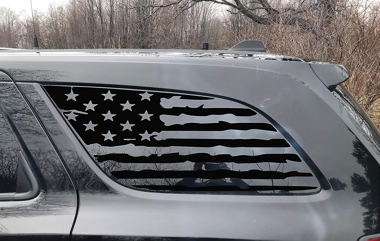 Amazon.com: NXT LVL GRAPHIX Tattered Distressed American Flag Dodge Durango  Side Window Decal: Sports & Outdoors
