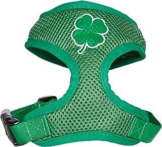 Mirage Pet Products Shamrock Screen Print Soft Mesh Dog Harnesses, Small, Emerald Green