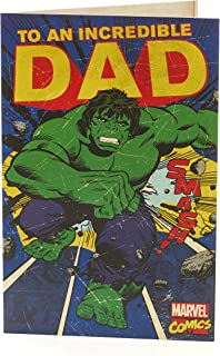 Dad Birthday Card Avengers Birthday Card Featuring Hulk for Dad Marvel Retro Vintage Card Ideal Gift Card for Him Gift for Dad