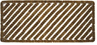 Entryways Rectangular Stripes Wire Brush Bootscraper Doormat 18