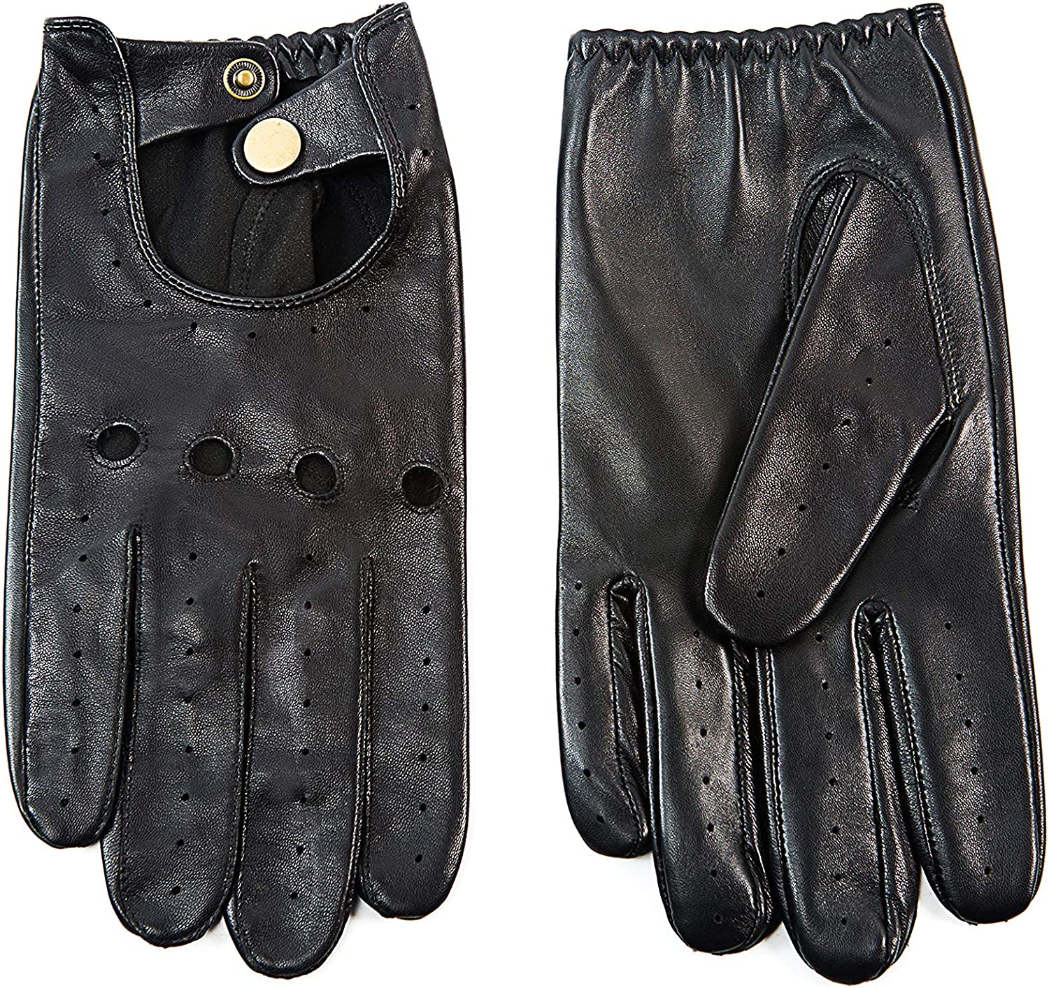 YISEVEN Men's Sheepskin Leather Gloves Sale price lined Motorcycle Cheap mail order specialty store Driving