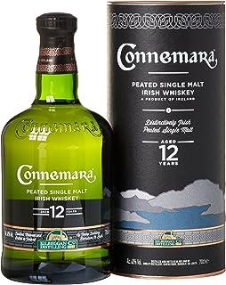 Connemara 12 Jahre getorfter Single Malt Irish Whiskey, mit Geschenkverpackung, rauchiges Aroma, 40% Vol, 1 x 0,7l
