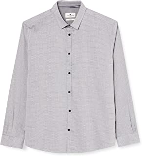 Tom Tailor Fitted Dobby Camisa para Hombre