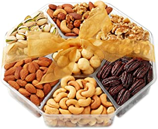 Christmas Holiday Nuts Gift Basket - Gourmet Food Gifts Prime Delivery - Mothers & Father's Day Fruit Nut Gift Box, Assortment Tray - Birthday, Sympathy, Get Well, Woman & Families- Hula Delights
