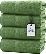 DAN RIVER 100% Cotton Terry Bath Towels - Machine Washable, Extra Large, Thick and Plush, Luxury Spa or Bathroom Towel, Pr...